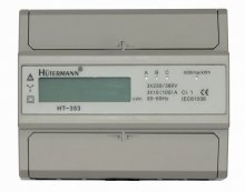 Elektromer na DIN lištu trojfázový digitálny merač spotreby Hutermann HT-353D